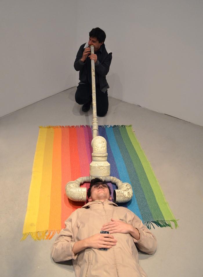 Triple Headed Didgeridoo (performance)